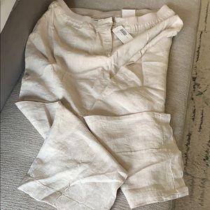 Chicos crop linen pant